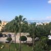 Das ist unser Dachterassenblick nach Palma/Hafen.