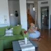 Unser Wohnzimmer jetzt, mit Aufgang zur Dachterasse.